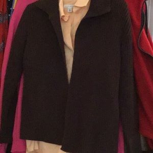Dark chocolate cardigan, L